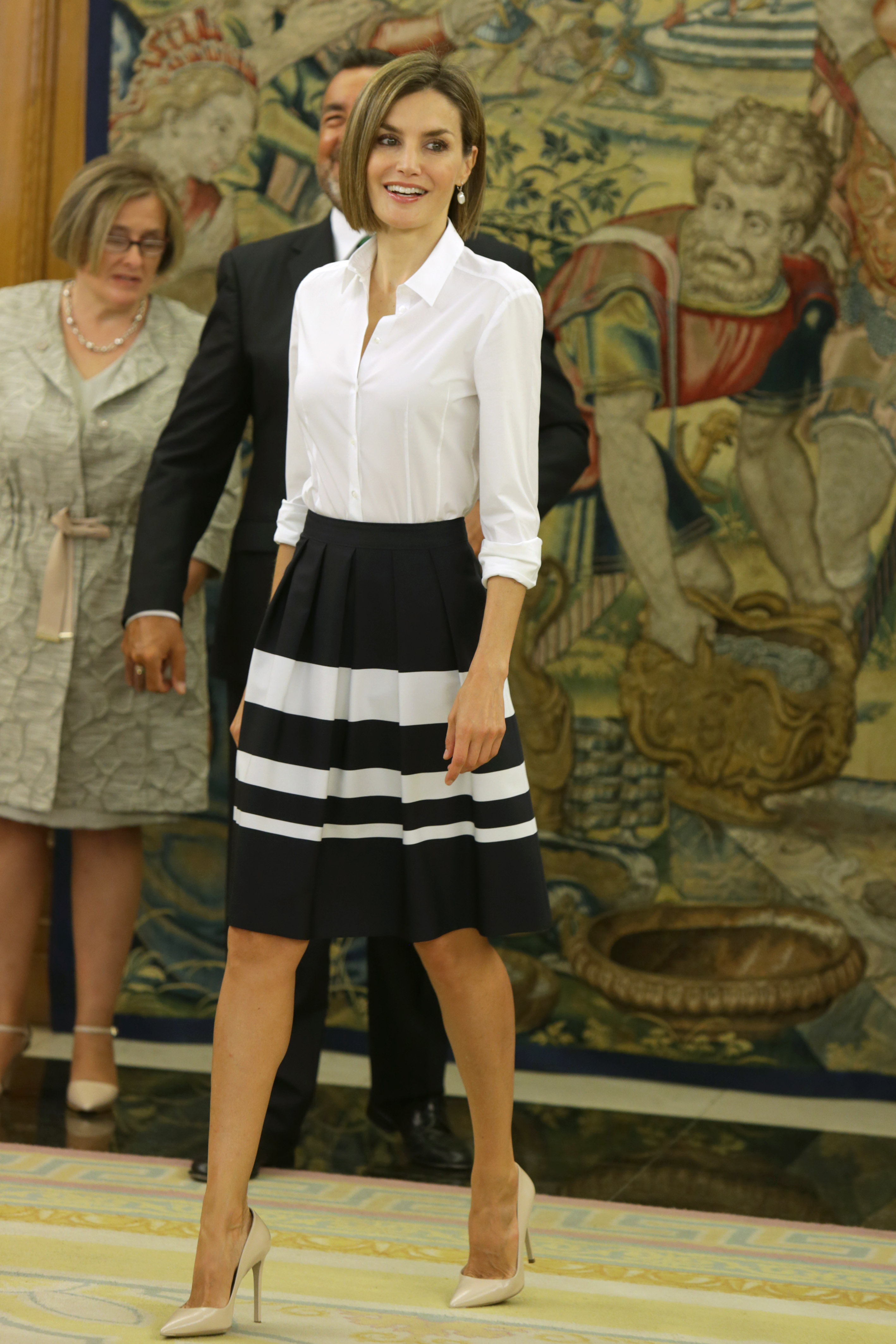 Queen Letizia during a royal audience with General Council of ONCE at the ZarzuelaPalace, in Madrid, on Wednesday 2nd, Madrid.