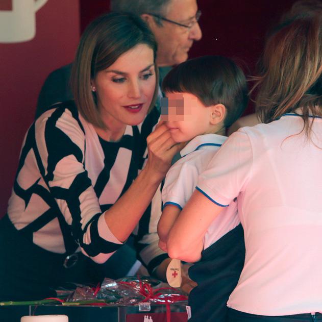 La reina Letizia en el Dia de la Banderita 2015